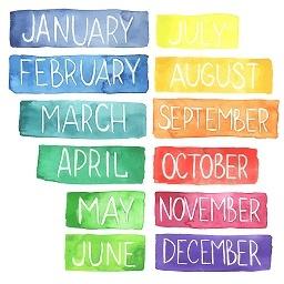 miesiące w języku angielskim
